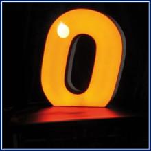 blocco per lettera o arancione in plexiglas