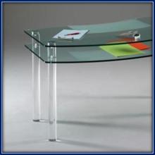 Gambe del tavolo con tubi pieni in plexiglass