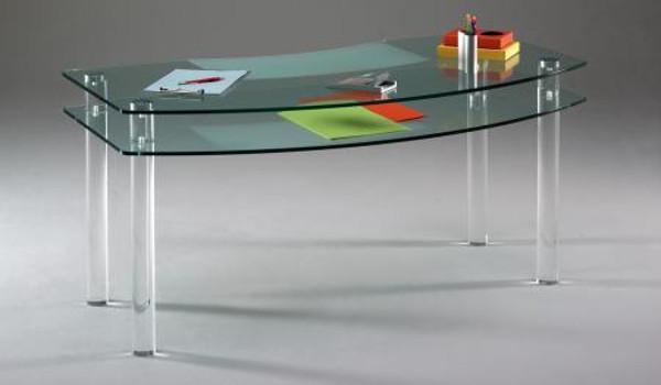 Tavolo con barre tonde in plexiglass colato